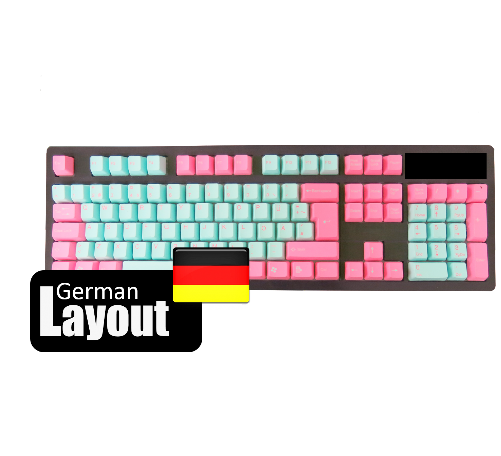 Tai-Hao PBT Non Backlit Double Shot Keycaps Miami German